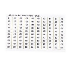RC610 TERMINAL BLOCK MARKERS PRE-PRINTED Terminal Block Markers pre-printed 401->500 Vertical