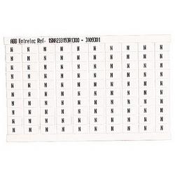 RC610 TERMINAL BLOCK MARKERS PRE-PRINTED MARKER VERTICAL 100 X N