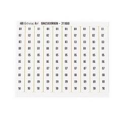 RC810 TERMINAL BLOCK MARKERS PRE-PRINTED MARKER VERTICAL 10 X 81-90