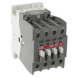 3 pole, 30 amp, NEMA rated electrically held lighting contactor 110-120V AC coil