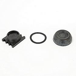 Bouton poussoir noir extreme duty avec 30mm Dimensions de montage