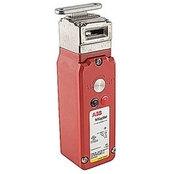 Solenoid locking interlock safety switch featuring power to lock guard holding up to 1800N