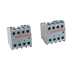 4 pole front mounted instantaneous auxiliary contact block with 1 NO and 1 NC contact