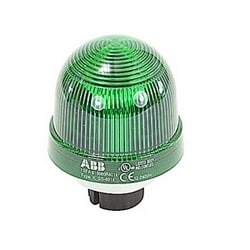 Optical module for signal beacon with green permanent light, 12 to 24V AC/DC for bulb BA 15d