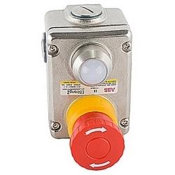 Interrupteur d'arrêt d'urgence de lourds inox avec 2 NC et 2 pas de contacts, connecteur NPT et 110V AC LED
