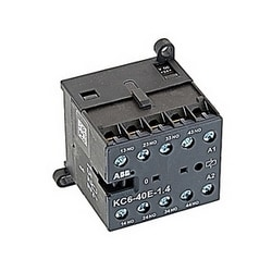 4 pole, 4 NO, KC6 Interface relay with screw terminals and 24V DC control voltage