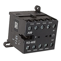 4 pole screw terminated miniature control relay with 110-127V 50 / 60 Hz control circuit voltage