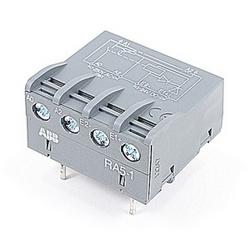Relais interface équipé NO contact et avec une bobine de DC faible consumptioin 24V conçue pour monter sur le Type N contrôle relais et A9 par A110 à travers les contacteurs de ligne