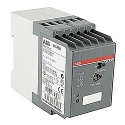 Contact protection relay with 110-130 V AC rated control supply voltage and 0.05-30 s timing circuit