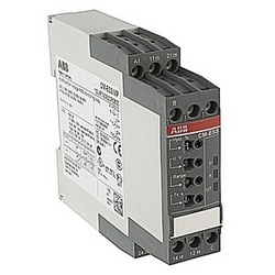 Voltage monitoring relay, single phase with 24-240V AC/DC control voltage, selectable sensitivity from 3-600V, and 0.1 to 30 sec. trip delay