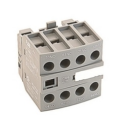 2 NO and 2 NC front mounted instantaneous auxiliary contact block for 4-pole NF control relays