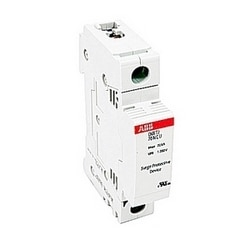 Neutral OVR DIN rail surge protection device with a HLD, single phase, split phase and Wye service voltage, and a maximum discharge current of 70