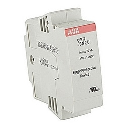Single pole plus neutral OVR DIN rail surge protective device with a service voltage of 120V single phase, 240/120V split phase and 208/120V Wye, and a maximum discharge current of 15 kA