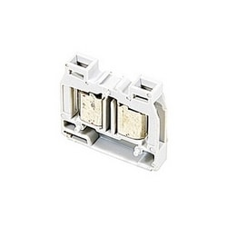 Gray, miniblock terminal block with 6 mm spacing, 20 amp rated UL current with insulation displacement connection that accepts 22-16 AWG UL wire range