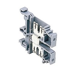 Gray, quick connect terminal block with 6 mm spacing, 25 Amp rated UL current that accepts 10 AWG UL wire
