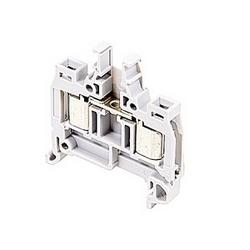 Gray, par bloc d'alimentation avec 6 mm espacement, Amp 18 UL courant nominal avec connexion de système de déplacement isolant qui accepte la gamme fil AWG UL