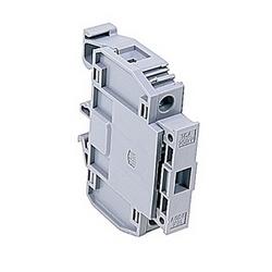 Gray, fusible titulaire bornier avec indicateur de fusion avec un espacement 16 mm, Amp 16 classé UL actuel qui accepte du câble de AWG UL 8