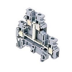 Gray, pont double bornier avec espacement de 6 mm, Amp 20 UL courant nominal avec raccordement vis à ressort qui accepte 12 fil AWG UL