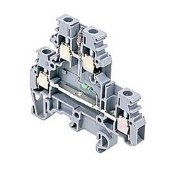 Composant gris support bornier avec voyant lampe néon et deux étages, 20 ampères UL évalué avec une vis de bride connexion qui accepte le 18-12 gamme fil AWG