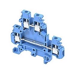 Bleu, alimentation par bloc avec un espacement 5 mm, ampli 20 UL courant nominal avec raccordement vis à ressort qui accepte la gamme de fils AWG UL 22-12