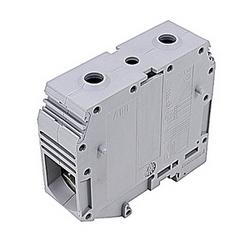 Gray, par bloc d'alimentation avec 26 mm espacement, 230 avec qu'amp UL courant nominal vis de raccordement qui accepte la gamme de fils AWG UL 2-0000