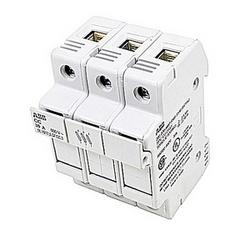 pôle 3 fusible bloque avec Amp 30 UL courant nominal avec raccordement vis à ressort qui accepte la gamme de fils AWG UL 8-18