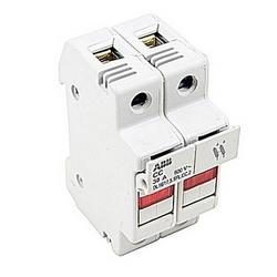 2 pole fusible bloque avec indicateur de fusible, 30 Qu'amp courant nominal avec vis pince connexion qui accepte la gamme de fils AWG UL 8-18