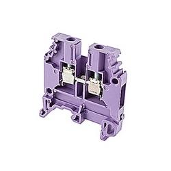 Violet d'alimentation par bornier avec espacement de 6 mm et amp 30 UL courant nominal avec raccordement à vis