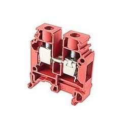 Rouge alimentation par bornier avec espacement de 10 mm et amp 65 UL courant nominal avec raccordement à vis