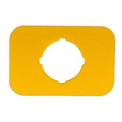 Emergency stop yellow aluminum legend plate without text