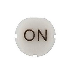 Blanc «Sur» texte d'insertion cap pour boutons poussoirs affleurant