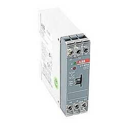 Timer with 110-130 V AC rated control supply voltage, timing range of 3-300 s, no control input, and 1 SPDT (c/o) output contact