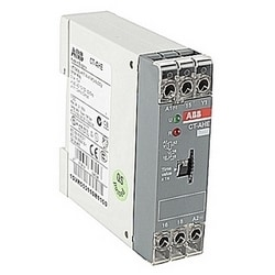 Timer with 110-130 V AC rated control supply voltage, timing range of 0.1-10 s, a control input, and 1 SPDT (c/o) output contact