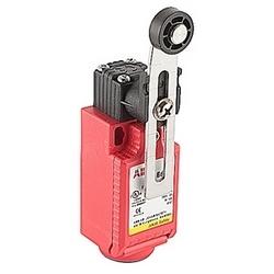 Interrupteur de sécurité avec actionneur levier rouleau réglable et 2 NC et 1 pas de contacts