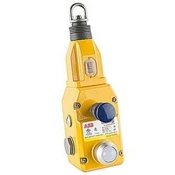 Obligation générale moulé sécurité corde interrupteur à tirette avec 2 NC et 2 pas de contacts, connecteur NPT et 24V DC LED
