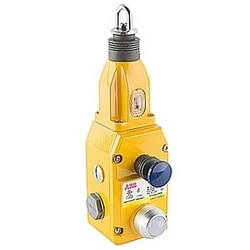 General duty die cast safety rope pull switch with 2 NC and 2 NO contacts, NPT connector and 24V DC LED