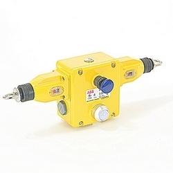 Interrupteur à tirette sécurité corde robuste avec 4 NC et 4 pas de contacts, connecteur NPT et 24 V DC LED
