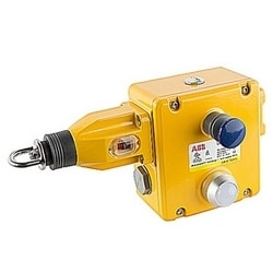 General duty die cast safety rope pull switch with 4 NC and 4 NO contacts, NPT connector and 110V AC LED