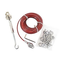 Galvanized 20 meter rope kit with allen key