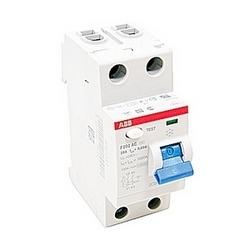 pôle 2, 25 a évalué à 240 V AC, équipement UL 1053 interrupteurs différentiels, type AC, 100mA voyage pénétrants