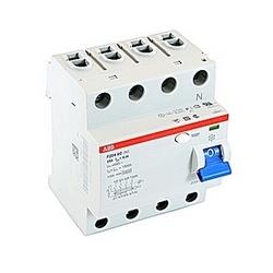 pôle 4, 25 a évalué à 480 V AC, équipement UL 1053 interrupteurs différentiels, type AC, 100mA voyage pénétrants