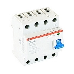 4 pole, 25 amps rated at 480 V AC, UL 1053 ground fault equipment protector, AC type, 500mA trip senstivity