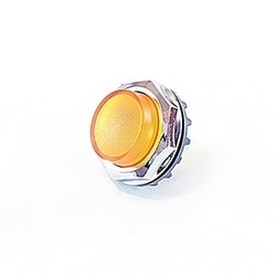 Chrome pilot light mounting ring with yellow lens