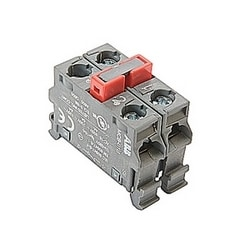 Double contact block for base mounting with 2 NC contacts