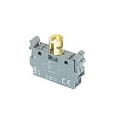 115V AC / DC alimentation bloc feu simple tension pour montage frontal, Ba 9 s base accepte 24V LED