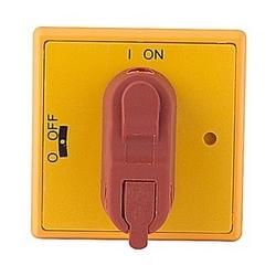Sélecteur de rouge et jaune snap sur poignée sélecteur pour les interrupteurs de porte montée avec protection selon NEMA 1 et IP54