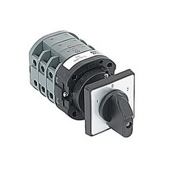 Rotating angle, 40 Amp, 3 pole change-over cam switch