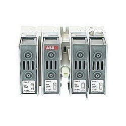 4 pole, 30 amps rated at 600 V AC, UL 98, open fusible disconnect switch for use with J fuse type