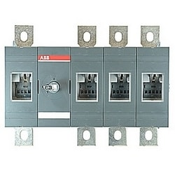 4 pole, 600 amps rated at 600 V AC, UL 98, open non-fusible disconnect switch