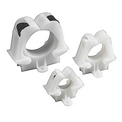 Cable Tie Bundle-Retaining Clamp Harnessing Accessories Natural Nylon 6.6 Screw Mounting- #6 Screw Maximum Wire Bundle Diameter 1 1/4""
